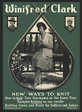Winifred #11 c.1918 New Ways to Knit, Garment Patterns for Soldiers & Sailors