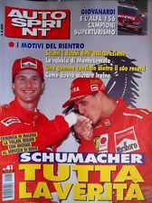 Autosprint 41 1999 Giovanardi e l'Alfa 156 campioni superturismo. Schumacher