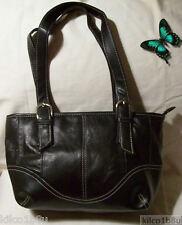 Genuine Leather Embassy Shoulder Bag/Handbag #95 BLACK