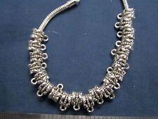 20 bail hangers fit european bracelet antique silver plate large hole, add charm