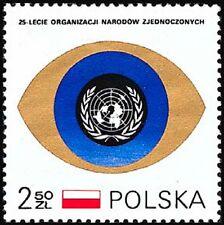 Poland 1970 Sc1757Mii2028 0.40 MiEu 1v mnh United Nations, 25th anniversary