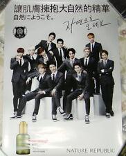 """EXO NATURE REPUBLIC 2013 Korea Promo Poster (EXO-K EXO-M) 23""""X16"""""""