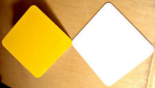 """10pcs. .040  9"""" x 12"""" Gloss CAUTION YELLOW Only -- Aluminum Sign Blank w/ RC"""