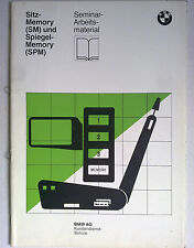 BMW AG Service Sitz-Memory (SM) Spiegel-Memory (SPM) III/86 Sem-Arbeitsmaterial