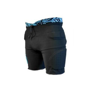 Demond DS1300 Snowboarding crash protective shorts Blk/Blue blk/red size S-M-L