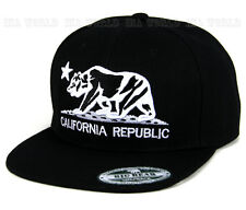 California Republic hat embroidered Bear Logo Snapback Baseball cap Flat bill