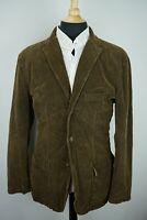 Jcrew Vintage Cord Suede Elbow Pad Chocolate Brown Sport Coat Jacket Sz L