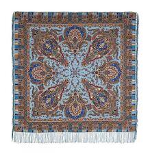 Large Russian Woolen Shawl #168363 (silk fringe)