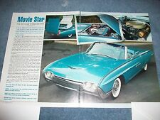 """1963 Ford Thunderbird Convertible Article """"Movie Star"""" Sports Roadster Optioned"""