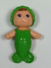 """Vintage 1979 Kenner Sea Wees Green BABY SPRITEz Mermaid Doll 2.25"""" Rare!!"""
