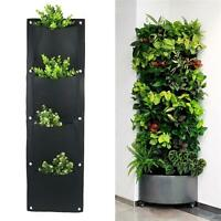 Garden Grow Bag Pockets Vertical Planter Wall-mounted PE Flower Hanging Felt