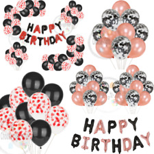 Rose Gold Happy Birthday Foil Letters Bday decorations Confetti balloons set UK