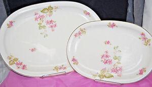 Oval Serving Platters 11 & 14'' Franconia Krautheim Selb Bavaria Lot of 2 S6312