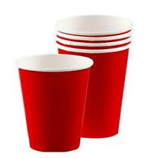 Red Paper Disposable Cups Party Supplies Beer Pong American USA Birthday 266ml