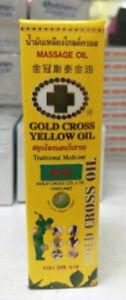 Gold Cross Yellow Massage Oil 15cc.
