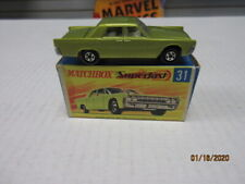 VINTAGE MATCHBOX #31 LINCOLN CONTINENTAL LIGHT GREEN IN G2 BOX