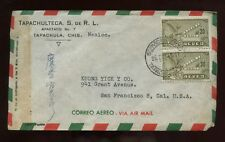 Mexico Advertising Cover 1948 Tapachula to Calif with Chinese Writing on Front