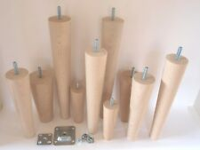 Wooden Furniture Cone Legs For Table Chair Stool Chest