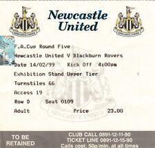 Ticket - Newcastle United v Blackburn Rovers 14.02.99 FA Cup