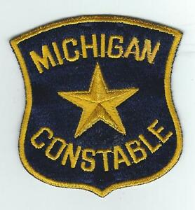 VINTAGE MICHIGAN CONSTABLE(100% EMBROIDERED) patch
