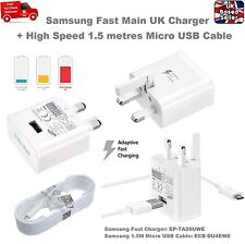 Genuine Samsung Galaxy S6 S7 Edge Note 4 5 UK Adaptive Fast Charger 1.5M Cable