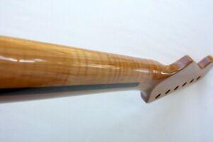 Curly Flame Maple 1-Piece Roasted Stratocaster Guitar Neck-Warmoth BoneNut-STRAT