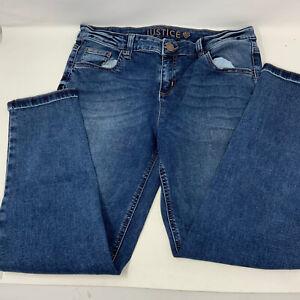 Girls Justice boyfriend Jeans Sz 14 Plus Medium Wash Worn Once