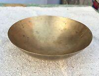 Vintage Rare Mano Crafted Bell Metallo / Bronzo Chakra Healing Singing Ciotola
