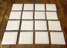 "Vintage New Old Stock Italian Tiles Italy 3"" Square White Wall Tile - 1 SQ FOOT"