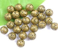 Gold & Silver,Bronze,Copper, Metal Filigree Spacer BEADS - Choose 6/8/10/12MM