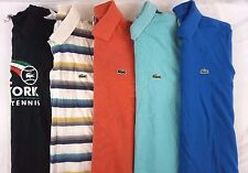 Lacoste Lot of 5 Men's Casual Short Sleeve Polo Shirts Size EUR 3, US Small S