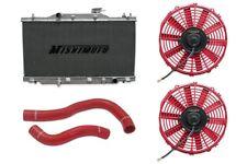 MISHIMOTO Radiator+Fan+Hose Kit Red 02-06 Acura RSX MT Base/Type-S DC5