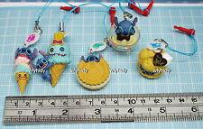 Disney Stitch Sweets Cell Phone Plug Mascot 5pcs+ Display Card   - Takara Tomy