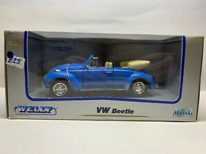 Welly 2091W - Volkswagen Beetle (Blue) Convirtable - 1/24 Scale