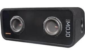 """Memphis Audio Mojo Mini Dual 6.5"""" Loaded Subwoofer Enclosure - Open Box *MJME6D1"""