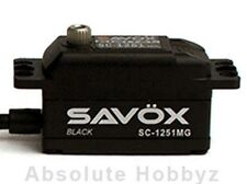 Savox Black Edition Low Profile Digital High Speed MG Servo - SAVSC1251MG-BE