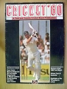 Cricket- 1980 A Test & County Cricket Board Publication