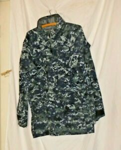 US Navy Blue Digital Camo  Parka Jacket Hooded Full Zip Size asst no liner