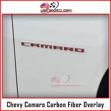 Chevrolet Camaro Fender Block Letters Overlay Decal Carbon Fiber Vinyl 2010-2015