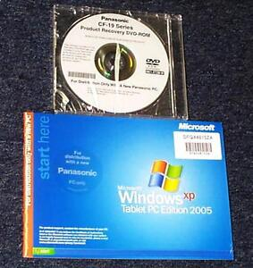 Panasonic Toughbook CF-19 Series (Tablet PC) Recovery DVD w/RAM