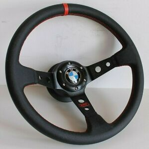 Steering Wheel Fits BMW Deep Dish Leather Racing E38 E39 E46 Z3 Sport 1999-2003