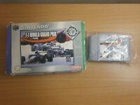 F-1 World Grand Prix Nintendo 64 3+ Racing Game - BOXEED - TESTED - FREE P&P