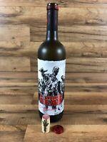 The Walking Dead 2016 Zombie Wine Bottle Augmented Reality Living Label w/ Cork