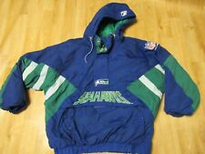 Vintage NFL Seattle Seahawks Starter Puff Pullover Coat Jacket 2XL
