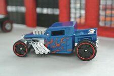 Hot Wheels Bone Shaker - Blue w/ Flames - Loose - 1:64 - Exclusive