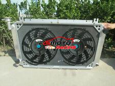 4ROW Alu Radiator+ Fans For NISSAN Patrol GQ Y60 2.8 4.2 DIESEL TD42 3.0L PETROL