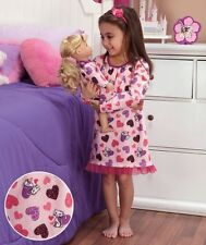 "Cat size 10 12  Matching girl doll nightgown pj's fit american 18 "" Large girls"