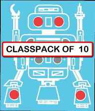 (CLASSPACK OF 10) K-17 / K-5117 LED ROBOT BLINKER DIY KITS solder version
