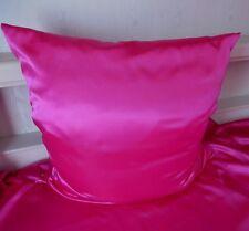 Bettwäsche Satin Glanzsatin Polyestersatin uni Pink Größe 135 cm x 200 cm