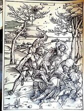 Durer 12.75x17 woodcut original signed the battle of victory Durer Society